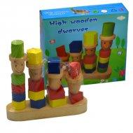 Drevená hračka - Štyri panáci (19cm)