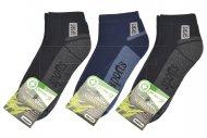 Pánské bambusové termo kotníkové ponožky PESAIL - 3 páry, sports, mix barev, velikost 43-47