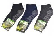 Pánské bambusové termo kotníkové ponožky PESAIL - 3 páry, mix barev, velikost 43-47