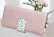 DOTS long růžová peněženka