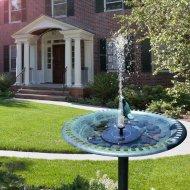Plovoucí zahradní fontána - solární