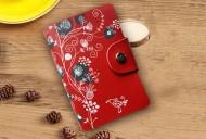 Pouzdro na karty FLOWER - červená
