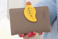 Pouzdro na karty LEAF - žlutá