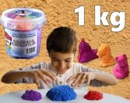 Tekutý kinetický písek - Kinetic Sand  - plastový box - střední set 1kg