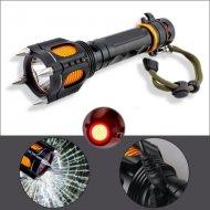 Multifunkční LED svítilna s destrukčními hroty - SOS  nabíjecí