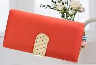 DOTS long červená peněženka