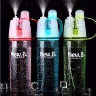 Fitness fľaša s rozprašovačom - Osviežujúci fľaša 2v1