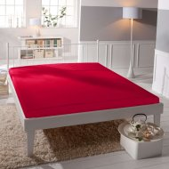 Jersey prostěradlo Premium Bed lycra DeLuxe - Červené