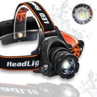 Výkonná čelovka LED XM-L U2 High power - nabíjací