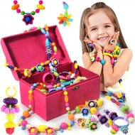 Detské farebné korálky Pop Art