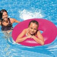 Reflexní nafukovací kruh INTEX - Růžový (91cm)