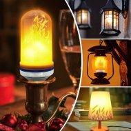 LED žiarovka s efektom horiaceho plameňa