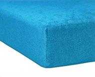 Froté prostěradlo Premium Bed - Azurové