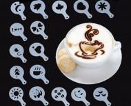 Šablóny na zdobenie kávy - sada 16ks