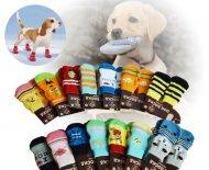 Ponožky pro psy s protiskluzovou podrážkou 3 x 7,5 cm - velikost M