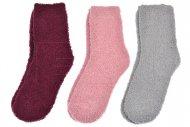 Dámské chlupaté termo ponožky LOOKEN - 3 ks, mix barev, velikost 39-42