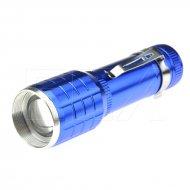 Hliníková LED baterka s kuželem - 015 - Modrá