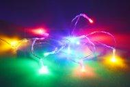LED světýlka na baterie (130cm) 10 diod - Multi barevné