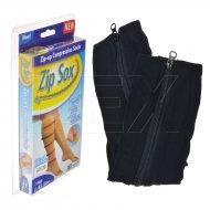 Ponožky bez špiček - Na zip - L/XL - Černé