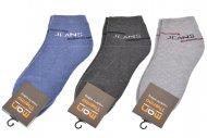 Pánské kotníkové termo ponožky MAN THERMO - 3 páry, mix barev, JEANS, velikost 43-46