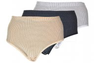 Klasické kalhotky s puntíky TINA SHAN - 1 ks, mix barev, velikost XL