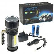 Hliníková LED svítilna se zoomem s rukojetí včetně lucerny - 800lm