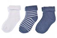 Dětské termo ponožky LOOKEN - 3 páry, mix barev, velikost 15-16.5 (12-24m)