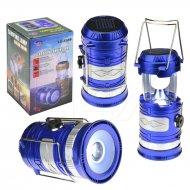 Malá solární kempingová LED lampa se zoomem - YD-3589 - Modrá