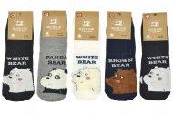 Dámské ponožky s medvídkem AURAVIA - 5 párů, mix barev, velikost 35-38