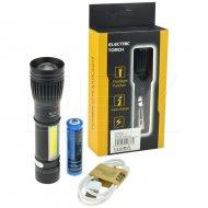 LED baterka s boční svítilnou - Electric torch