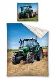 Povlečení Traktor zelený 140/200, 70/80