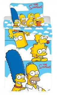 Povlečení Simpsons Family Clouds 140/200 + 70/90