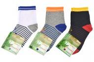 Dětské bambusové ponožky PESAIL - 3 páry, mix barev, velikost  27-30