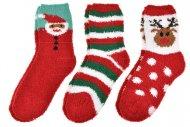 Vánoční termo ponožky EMI ROSS - 3 páry, mix motivů, velikost 35-38