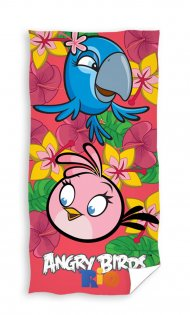 Osuška Angry Birds Rio růžová 70/140