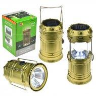 Malá solární kempingová LED lampa - HT-5800T - Mosazná