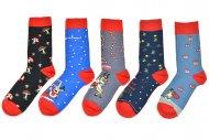 Pánské ponožky s vánočními motivy AURAVIA - 5 párů, mix motivů, velikost 39-42