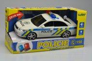 Policejní auto se zvukovými a světelnými efekty včetně baterií (24cm)