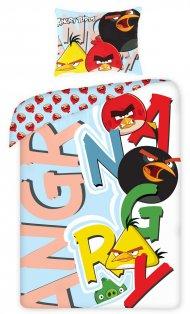 Povlečení Angry Birds písmena 140/200 + 70/80