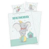 HERDING Povlečení do postýlky Dumbo Baby Bavlna, 100/135, 40/60 cm