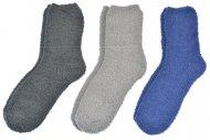 Pánské chlupaté termo ponožky LOOKEN - 3 ks, mix barev, velikost 43-46