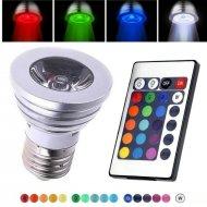 LED žiarovka s diaľkovým ovládaním - multicolor
