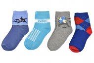 Dětské ponožky PESAIL - 4 páry, mix barev, velikost 31-34