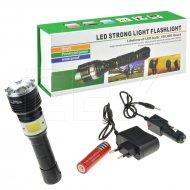 Multifunkční LED baterka se zoomem a svítilnou- 3W