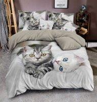 3D povlečení BedStyle 140x200+70x90+40x40 - Kittens