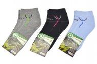 Dámské bambusové prodyšné termo kotníkové ponožky PESAIL - 3 páry, mix barev, velikost 38-42