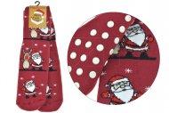 Dámské teplé ponožky s protiskluzovou podrážkou TURKEY - 1 pár, Santa a sob, velikost 39-42