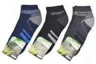 Pánské bambusové termo kotníkové ponožky PESAIL - 3 páry, sport, mix barev, velikost 40-44