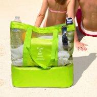 Plážová taška s termo priehradkou - zelená