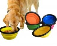 Skladacia miska pre zvieratá - silikónová